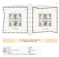 环球金融中心标准楼层3-9平面图
