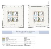 环球金融中心标准楼层10-16平面图